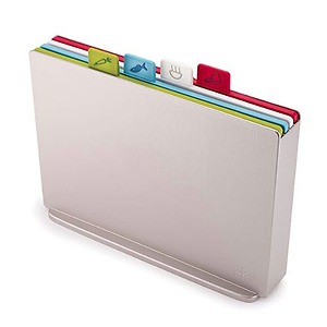 Joseph Joseph 60134 Index Plastic Cutting Board Set with Storage Case