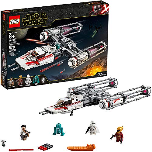 LEGO Star Wars: The Rise of Skywalker Resistance Y-Wing Starfighter 75249 New Advanced Collectible Starship Model Building Kit, New 2019 (578 Pieces)