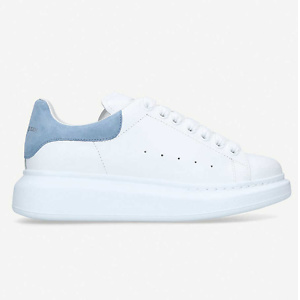 ALEXANDER MCQUEEN Runway suede-trimmed leather platform trainers