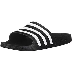 史低价!adidas Adiette经典款女子夏日拖鞋