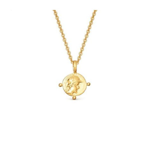 LUCY WILLIAMS GOLD MINI ROMAN COIN NECKLACE