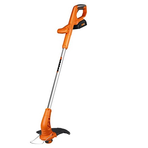 WORX WG154 20-volt Li-Ion Cordless Grass Trimmer/Edger Fixed Shaft, 10-Inch, Battery and Charger Included