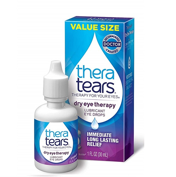 TheraTears Eye Drops for Dry Eyes, Dry Eye Therapy Lubricant Eyedrops, 1 Fl oz, 30 mL