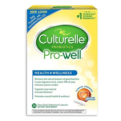 Culturelle Pro-Well Health & Wellness Daily Probiotic Dietary Supplement | 30 Vegetarian Capsules