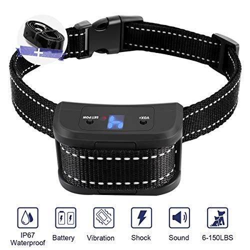 zenvey Dog Bark Collar Stop Barking with 3 Training Modes-Beep//Vibration/Shock for Small ,Medium, Large,Stubborn Dogs