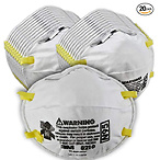 3M Particulate Respirator 8210, N95, Smoke, Dust, Grinding, Sanding, Sawing, Sweeping, 20/Pack