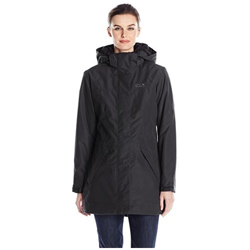 Jack Wolfskin Women's 5th Avenue Coat Jacket, Large, Black