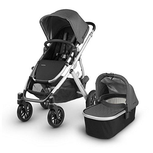 2018 UPPAbaby Vista Stroller -Jordan (Charcoal Melange/Silver/Black Leather)