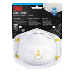 3M 8511 Respirator, N95, Cool Flow Valve (2-Pack)