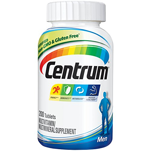 Centrum Men (200 Count) Multivitamin / Multimineral Supplement Tablet, Vitamin D3