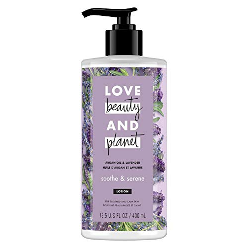 史低价!Love Beauty And Planet 薰衣草阿甘油身体乳,13.5 oz