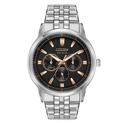 Citizen Men's Eco-Drive Japanese-Quartz Watch with Stainless-Steel Strap, Silver (Model: BU2070-55E) $108.98
