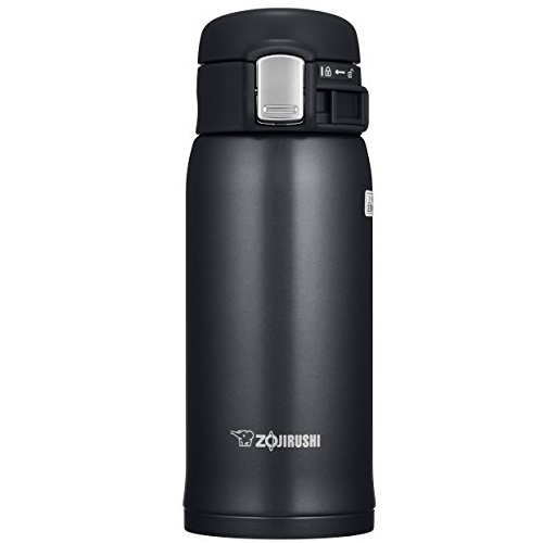 Zojirushi SM-SD36 BC Stainless Steel Mug, 12-Ounce, Silky Black