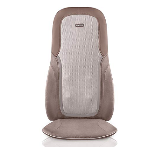 HoMedics, Quad Shiatsu Pro Massage Cushion with Heat, Zone Control (Targeted Spot, Full, Lower & Upper Back), 3 Massage Styles, Remote & Integrated Strapping System