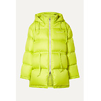 ACNE STUDIOSO versized hooded quilted neon shell down jacket