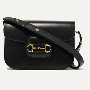 GUCCI 1955 horsebit-detailed leather shoulder bag