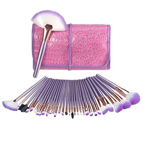 USpicy Complete高品质32 件必备化妆套刷,带高品质收纳包,现