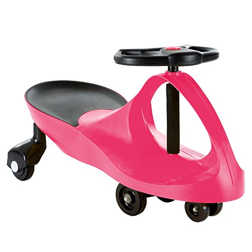Lil' Rider Ride On Car, No Batteries, Gears or Pedals, Uses Twist, Turn, Wiggle Movement to Steer Zigzag Car-Pink, for Toddlers, Kids, 2 Years Old and Up