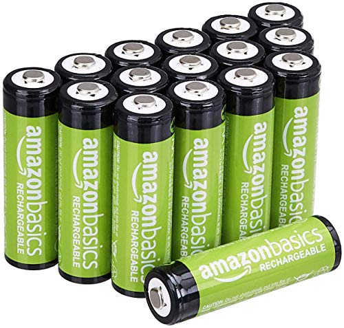 AmazonBasics AA Rechargeable Batteries, Pre-charged - Pack of 16 (Appearance may vary) $20.39