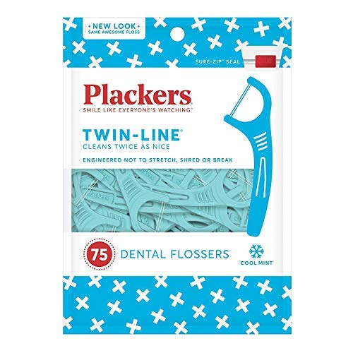 Plackers Twin-Line Dental Floss Picks, 75 Count $1.43
