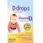 Ddrops婴儿维生素D3滴剂 400IU,90滴