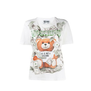 MOSCHINO Teddy dollar print T-shirt