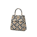 BY FAR Monet Snake Print Leather Tote