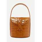 BY FARNick croc-effect leather shoulder bag