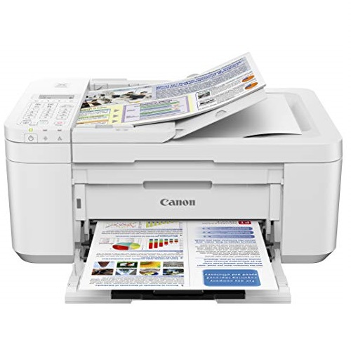 Canon PIXMA TR4520 Wireless All in One Photo Printer with Mobile Printing, White, Amazon Dash Replenishment Enabled