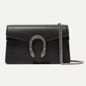 GUCCI Dionysus super mini textured-leather shoulder bag