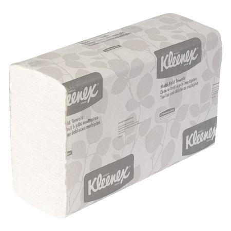 Kleenex 01890 Multi-Fold Paper Towels, 9 1/5 x 9 2/5, White, Pack of 150 (Case of 16 Packs), $22.79