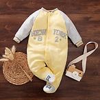 Baby Boy / Girl Sport Style Long-sleeve Jumpsuit