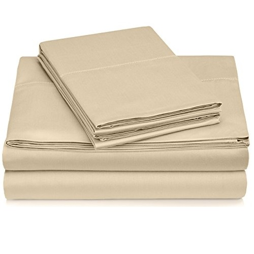 Pinzon 400-Thread-Count Egyptian Cotton Sateen Hemstitch Sheet Set - Cal King, Taupe
