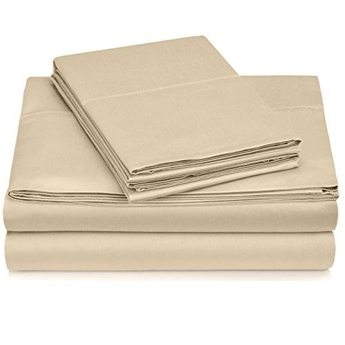 Pinzon 400支 纯埃及棉 床单、枕套四件套,California King