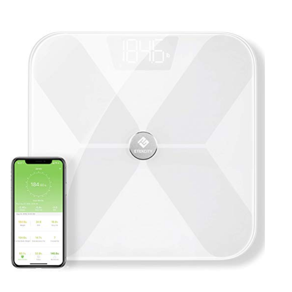 Etekcity Smart Bluetooth Body Fat Scale, Digital Wireless BMI Weight Bathroom Scale with 13 Essential Measurements and ITO Conductive Glass, FDA Compliant Body Composition Analyzer with Apps $25.99