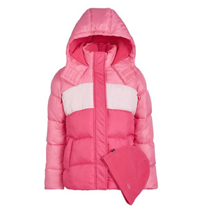 CB Sports Big Girls 2-Pc. Colorblocked Puffer Jacket & Hat Set