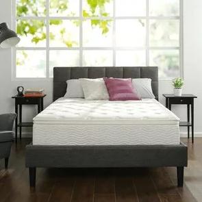 Zinus 12寸绿茶记忆棉弹簧床垫 King $269.52 免运费
