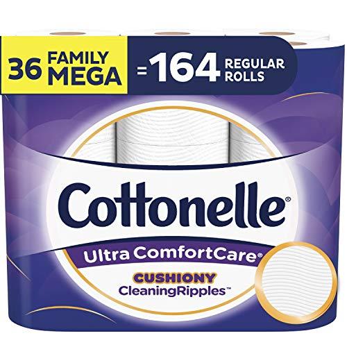 好价!Cottonelle 超舒适卫生纸 36卷超大家庭卷 相当于164普通卷