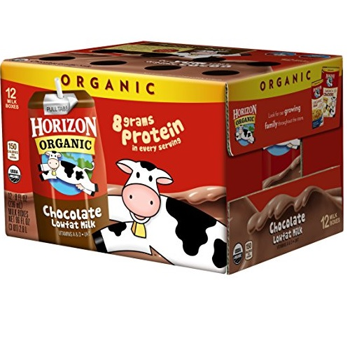 Horizon Organic Low Fat Organic Milk Box, Chocolate, 8 Ounce (Pack of 12)