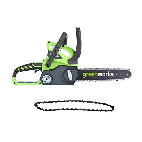 史低价!Greenworks 12英寸40V 无绳电锯,带替换链条,不带电池和充电器 $45.67 免运费