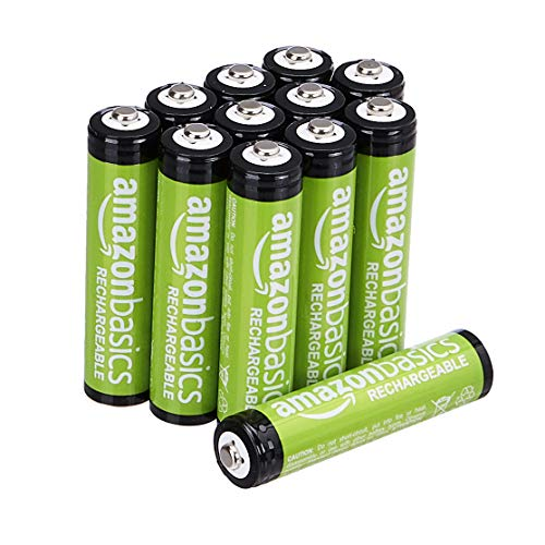 AmazonBasics AAA NiMH Precharged Rechargeable Batteries, (12 Pack, 800 mAh)