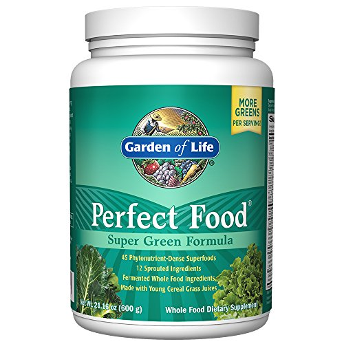 Garden of Life Perfect Food Super Green Formula Powder, Whole Food Vegetable Superfood Plant Based Juiced Greens Supplement Dietary Powder, 60 Servings $36.05