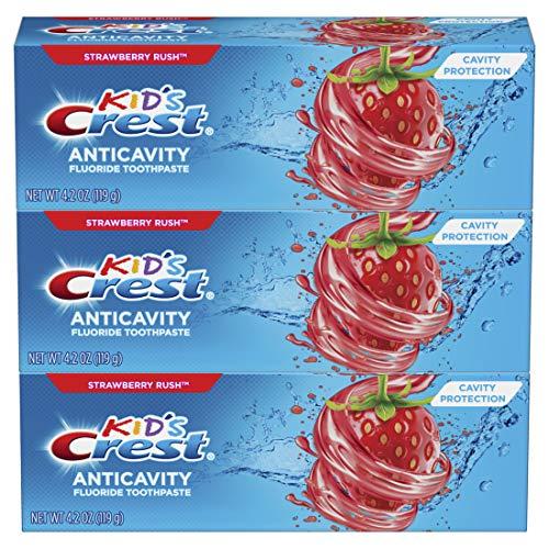 史低价!Crest 儿童含氟牙膏,4.2 oz/支,共3支