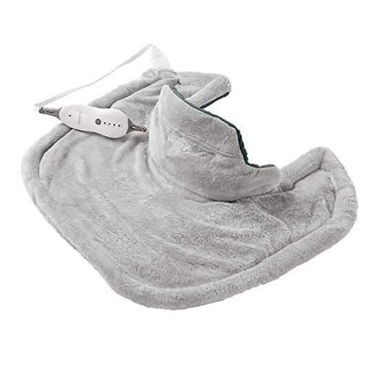 Sunbeam Heating Pad for Neck & Shoulder Pain Relief | Standard Size Renue, 4 Heat Settings with Auto-Off | Grey, 22-Inch x 19-Inch $35.92,free shipping