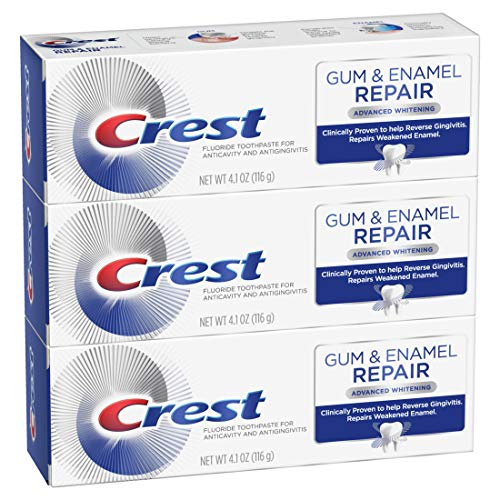 Crest Gum & Enamel Repair Toothpaste Advanced Whitening, 4.1 Ounce, Triple Pack