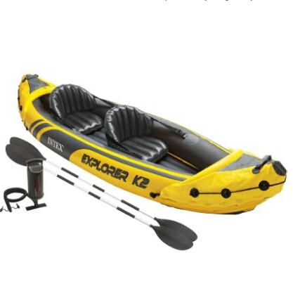 史低价!Intex Explorer K2 双人充气皮艇套装