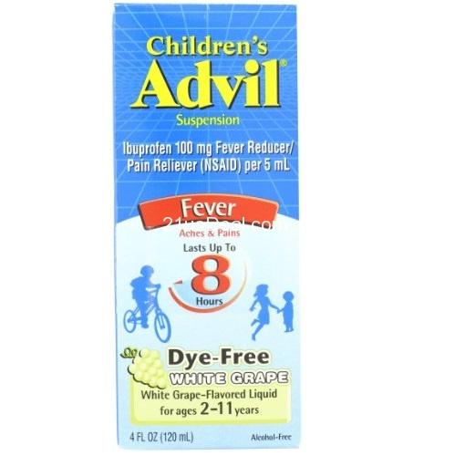 超赞!Advil 惠氏 8小时效力 宝宝退烧消炎滴剂,水果味,4oz