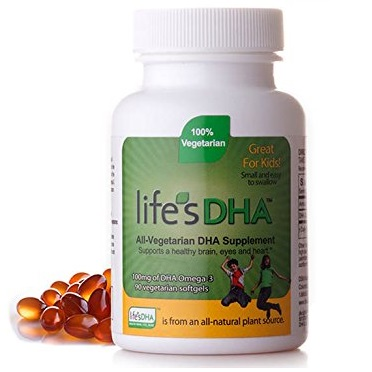 Life's DHA ® Kids All-Vegetarian DHA Dietary Supplement | Supports a Healthy Brain, Eyes & Heart* | 100 mg of DHA Omega-3 | 90 Easy-to-Swallow Softge
