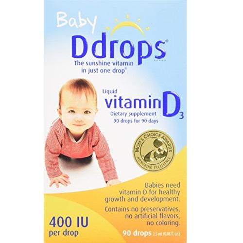 Ddrops Baby 400 IU, 90 drops 2.5mL (0.08 fl.oz)