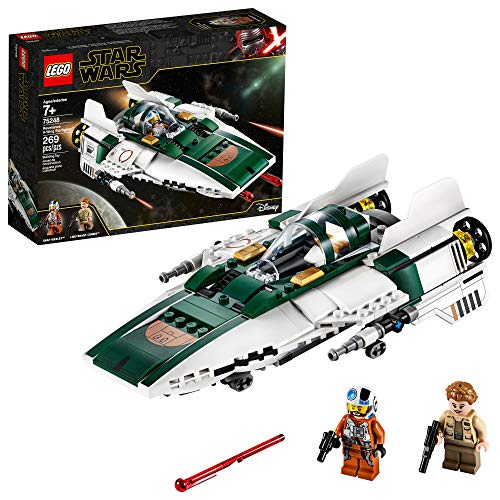LEGO Star Wars: The Rise of Skywalker Resistance A-Wing Starfighter 75248 Advanced Collectible Starship Model Building Kit (269 Pieces)